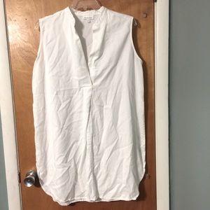 Prologue sleeveless mini shirt dress